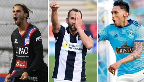 Felipe Rodríguez, Hernán Barcos y Christofer Gonzales, los jugadores más influyentes de la Liga 1 2021. (Foto: Liga 1 / Collage)