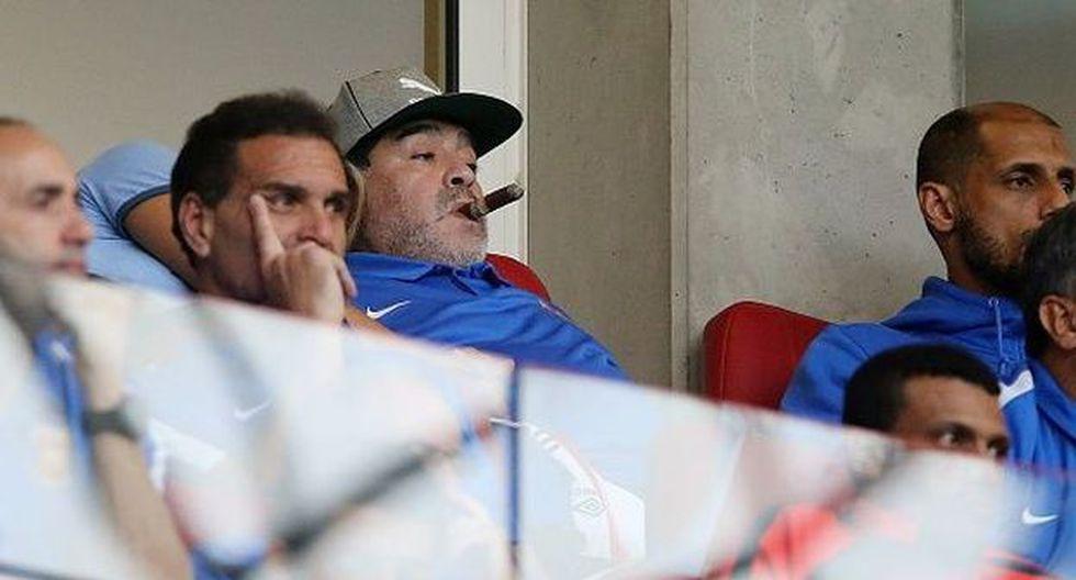 Diego Maradona dirigió a la Selección de Argentina en el Mundial Sudáfrica 2010. (Getty)