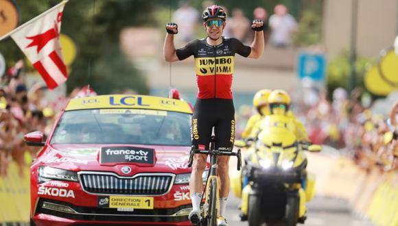 Wout van Aert ganó la Etapa 11 del Tour de Francia 2021 con el doble ascenso al Mont Ventoux. (Twitter)
