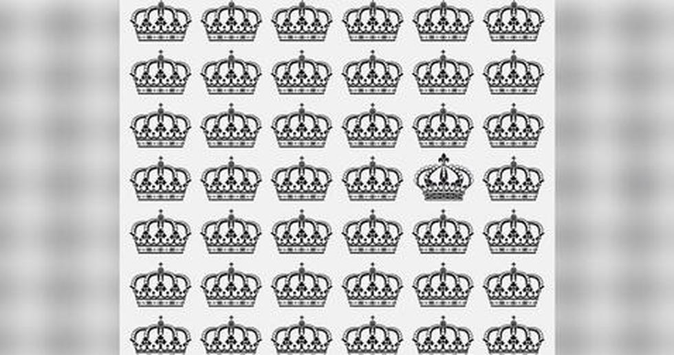 Ubica la corona diferente al resto que solo el 5% logra ver en solo 10 segundos. (Fotos: Facebook)