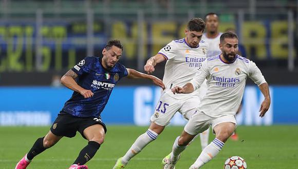 Real Madrid vs. Inter en el Giuseppe Meazza por la Champions League. (Foto: Getty Images)