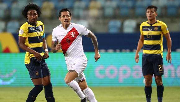 Gianluca Lapadula anotó su primer gol con la Selección Peruana. (Foto: Conmebol)