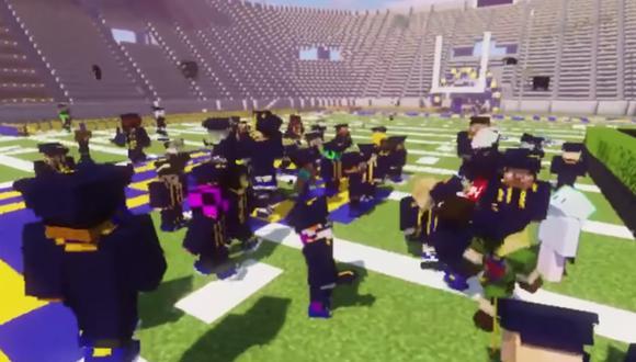 Coronavirus | YouTube Viral: estudiantes universitarios se gradúan gracias a ceremonia en Minecraft. (Foto: captura)