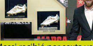 Lionel Messi recibió su sexta Bota de Oro