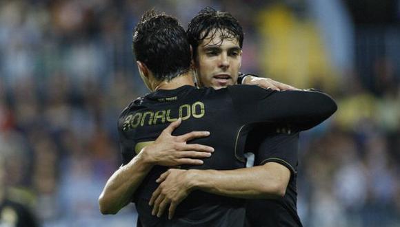 Kaká y Cristiano jugaron cuatro años juntos en Real Madrid. (Foto: Getty Images)