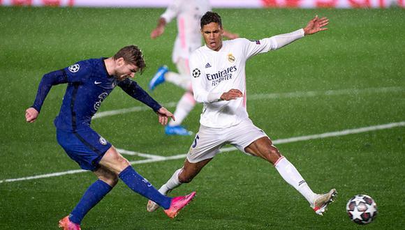 Timo Werner fue titular en el empate entre Chelsea y Real Madrid por la Champions League. (Getty)