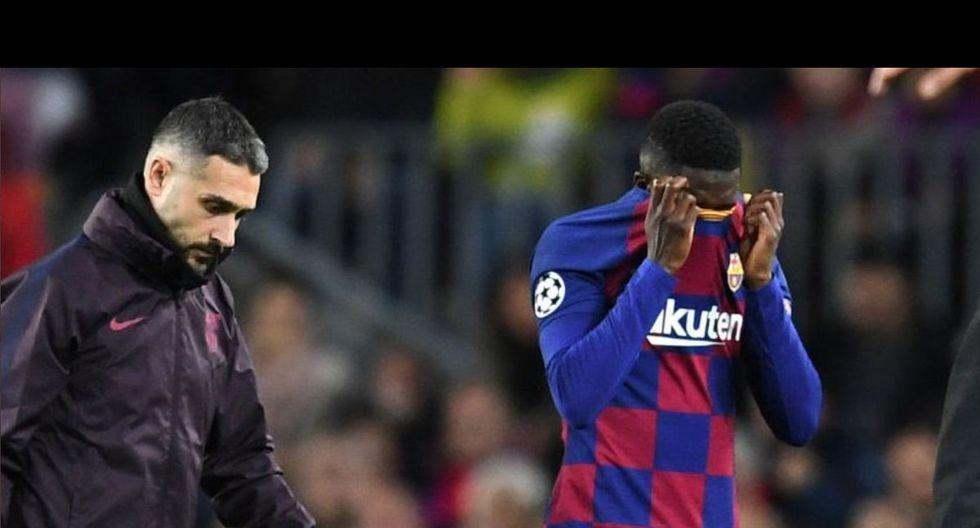Dembélé volvió a caer lesionado y Mbappé de inmediato le envió mensaje.