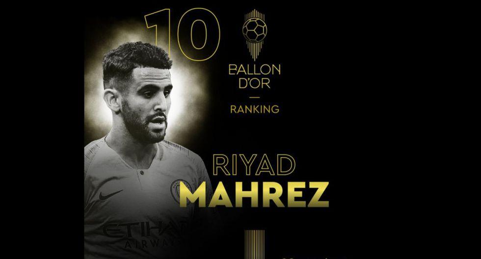 Riyad Mahrez   Manchester City. (Foto: @francefootball)