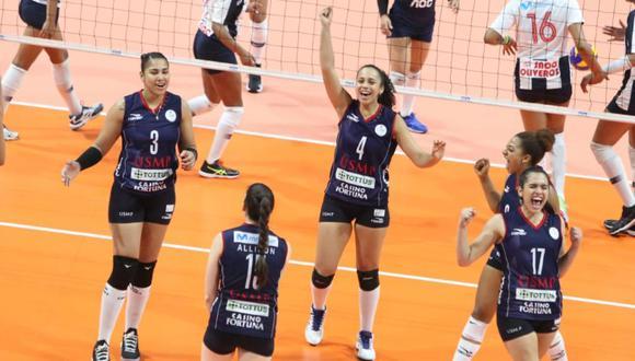San Martín continúa como líder de la Liga Femenina con 15 puntos. (FPV)