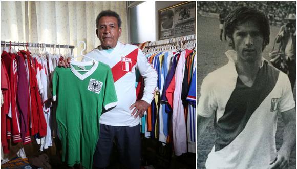 Héctor Chumpitaz cambió de camisetas con el alemán Gerd Muller. (Fotos: Jesús Saucedo / Agencias)