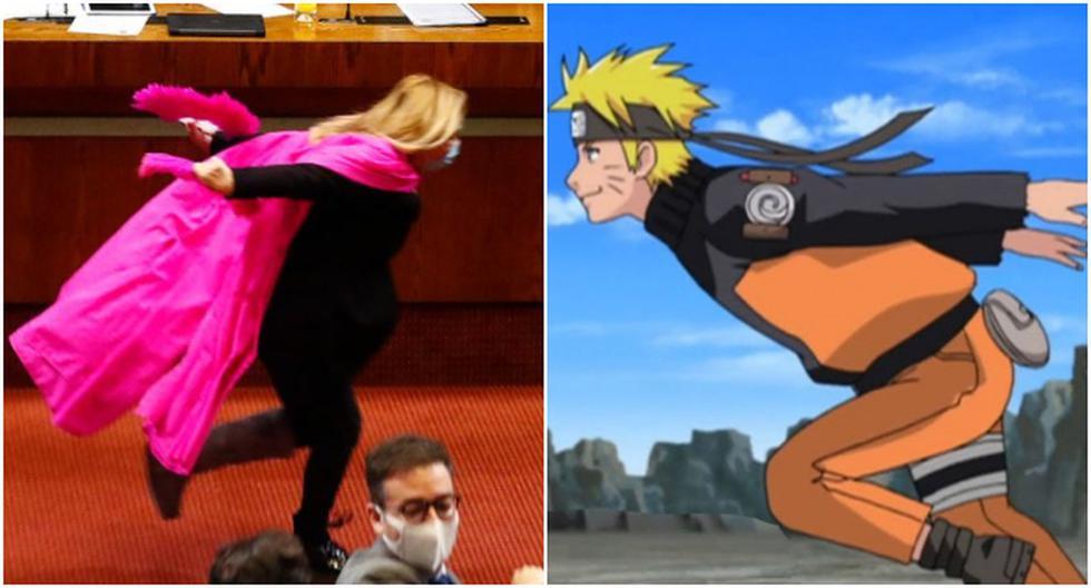 Diputada de Chile corrió como Naruto tras la aprobación de una reforma de ley. (Fotos: Twitter)