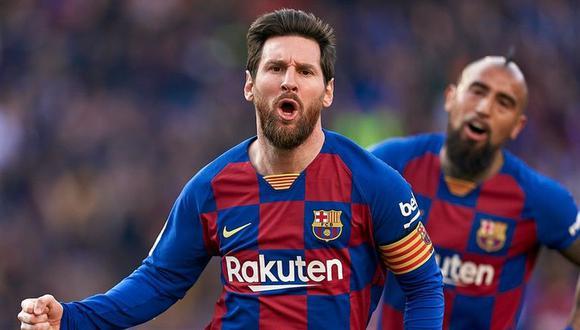Barcelona recordó los 20 años de Lionel Messi en el club. (Foto: EFE)