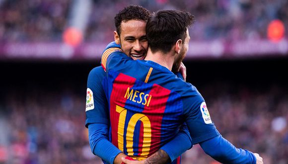 Neymar y Messi jugaron juntos en el Barcelona hasta la temporada 2016-17. (Getty)