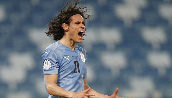 Edinson Cavani no estará ante Perú por negativa de la Premier League de ceder a los jugadores. (Foto: Reuters)