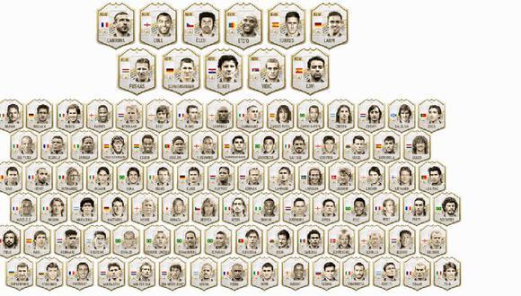 Las cartas ICON de FIFA 21 (EA Sports)