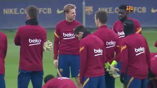 El Barcelona quiere llevar su buen juego de Europa a la Liga