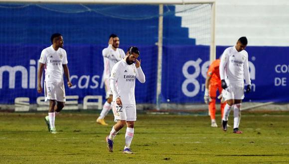 Real Madrid cayó ante el Alcoyano de Tercera División por Copa del Rey. (Foto: AFP)