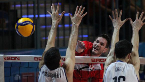 Perú cayó ante Chile por 3-1 (36-34, 26-24, 25-21, 25-21) en el Preolímpico Sudamericano de Vóley Masculino. (FIVB)
