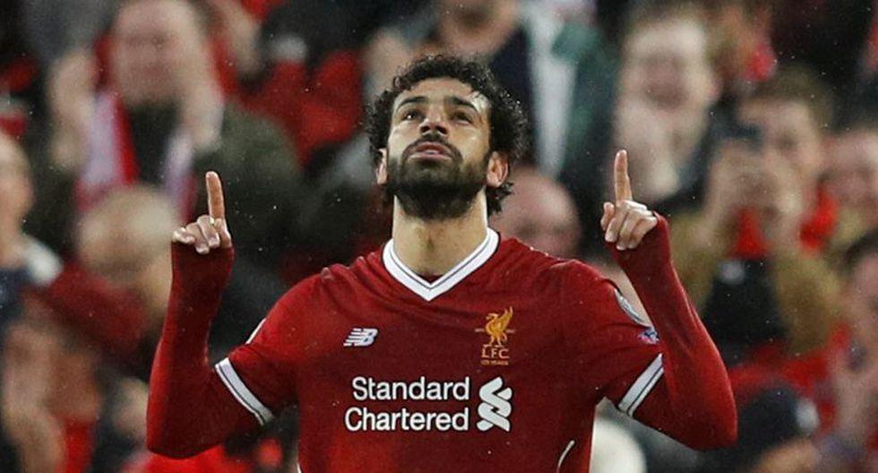 Salah anotó doblete ante Roma por Champions League. (Reuters)