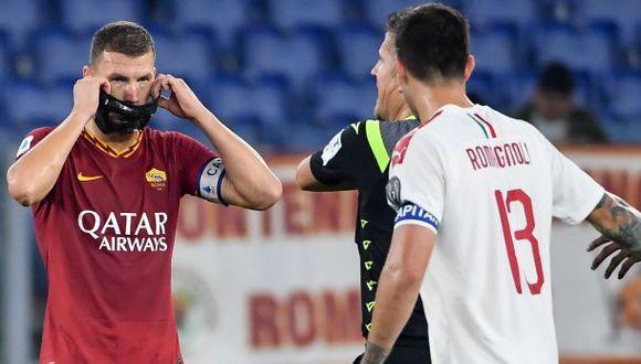 Milan vs. Roma: chocan por la jornada 28 de la Serie A. (Foto: AFP)