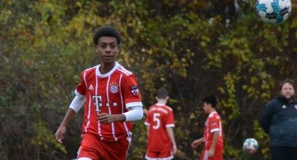 Juan Jr. Acevedo, delantero de 16 años que la rompe en Estados Unidos, jugando para la filial de Bayern Munich. (Foto: Difusión)