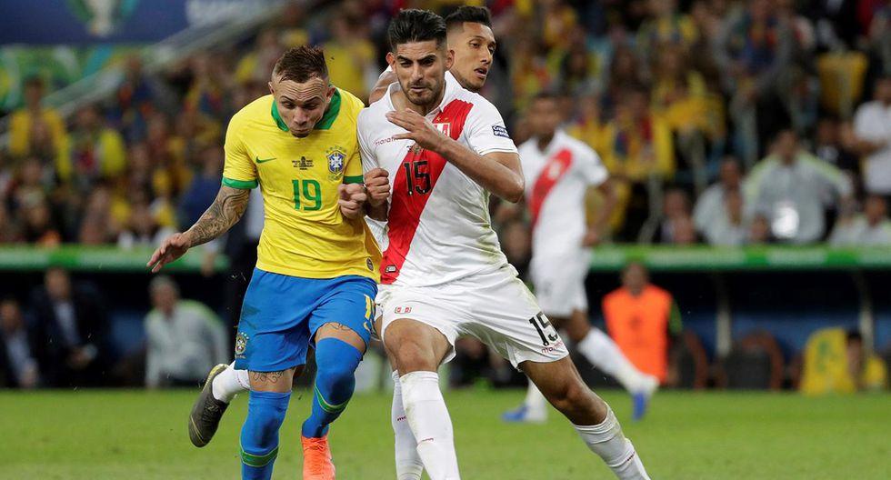 Perú vs. Brasil - Copa América 2019: penal de Carlos Zambrano sobre Everton (Getty)