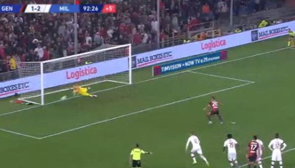 El increíble penal que atajó Pepe Reina para el AC Milan en el último minuto