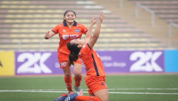 Kiara Larrea anotó un 'hat-trick' ante Sport Boys, por la fecha 2 (Foto:Liga Femenina)