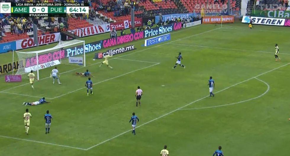 Nicolás Castillo anotó en el triunfo de América sobre Puebla por la Liga MX. (Twitter)