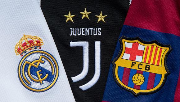 Barcelona, Juventus y Real Madrid podrían ser sancionados por la UEFA. (Foto: Getty)