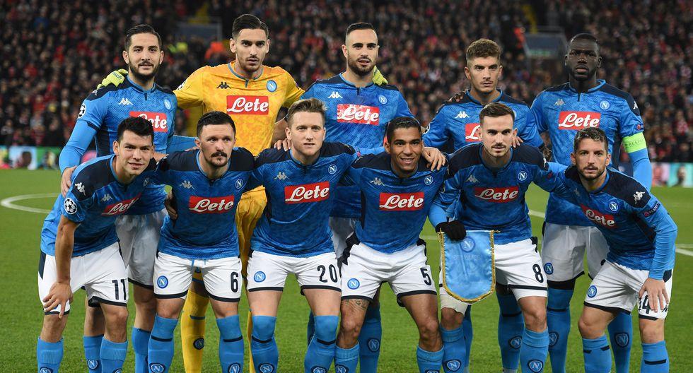 Napoli con 27 Jugadores en el plantel cuesta 743.85 Millones de dólares (Foto: AFP)