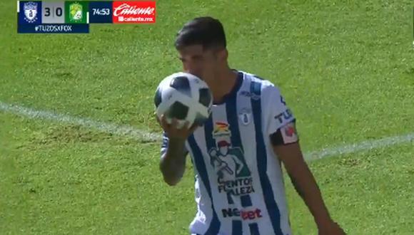 Gol de Víctor Guzmán para el 3-0 del Pachuca vs. León por la Liga MX 2021 (Foto: @LigaBBVAMX)