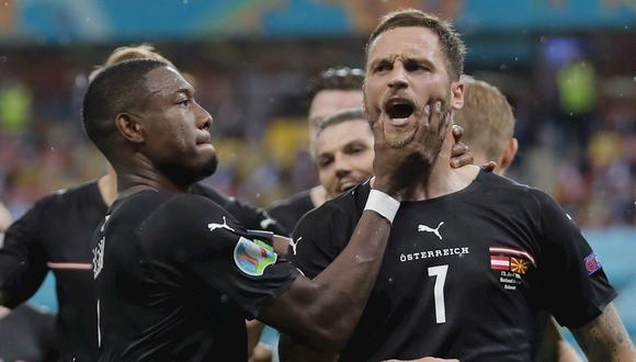 Arnautovic anotó el 3-1 de Austria vs. Macedonia del Norte por Eurocopa 2021. (Foto: AFP)
