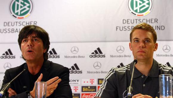 Löw y Neuer, campeones del mundo con Alemania en el 2014. (Foto: AFP)