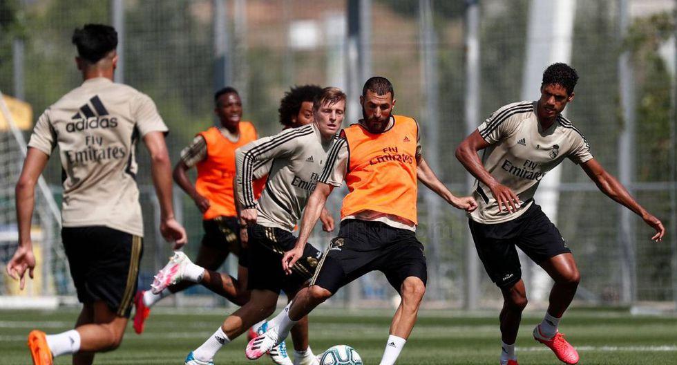 Real Madrid se ejercita en la ciudad deportiva Valdebebas. (Foto: www.realmadrid.com)