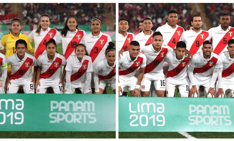 Ambas selecciones sumaron dos puntos de 18 jugados en Lima 2019. (Fotos: FPF / Diseño: Depor)