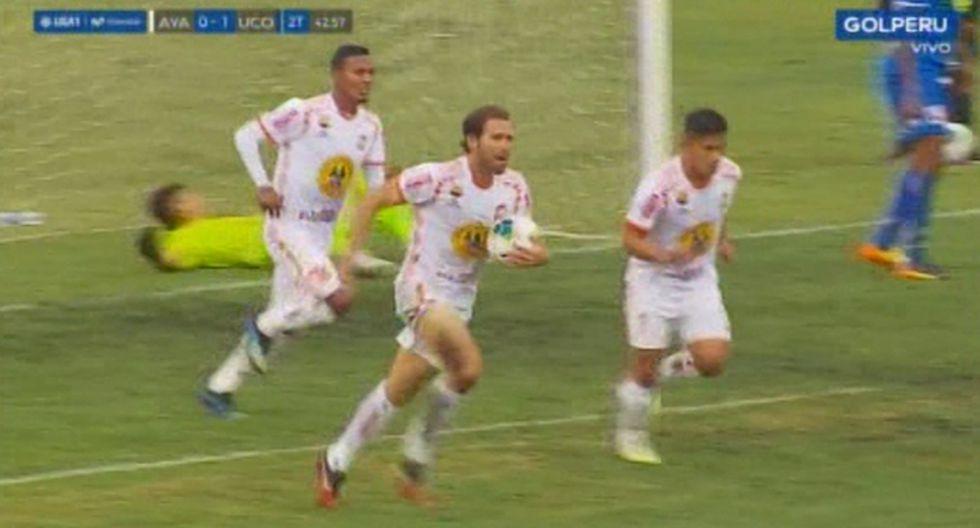 Montes marcó el empate en el Ayacucho FC vs. Unión Comercio. (Captura)