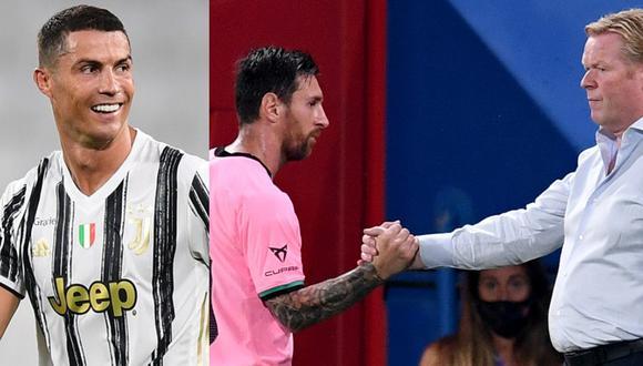 Koeman tuvo que comparar a Messi y a Cristiano. (Foto: Agencias)