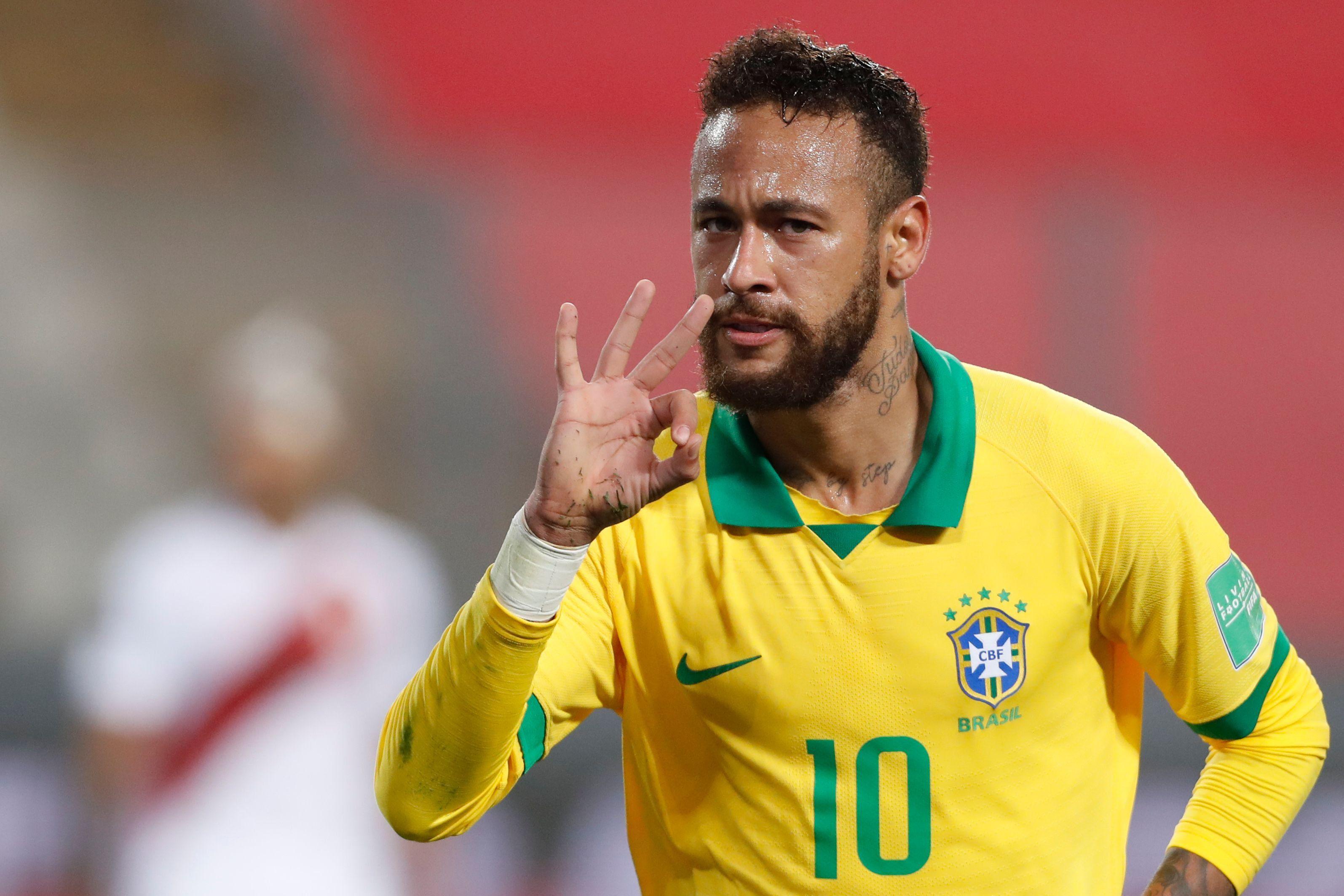 Neymar logró hat-trick en el Perú vs Brasil por las Eliminatorias Qatar 2022 | Foto: AFP