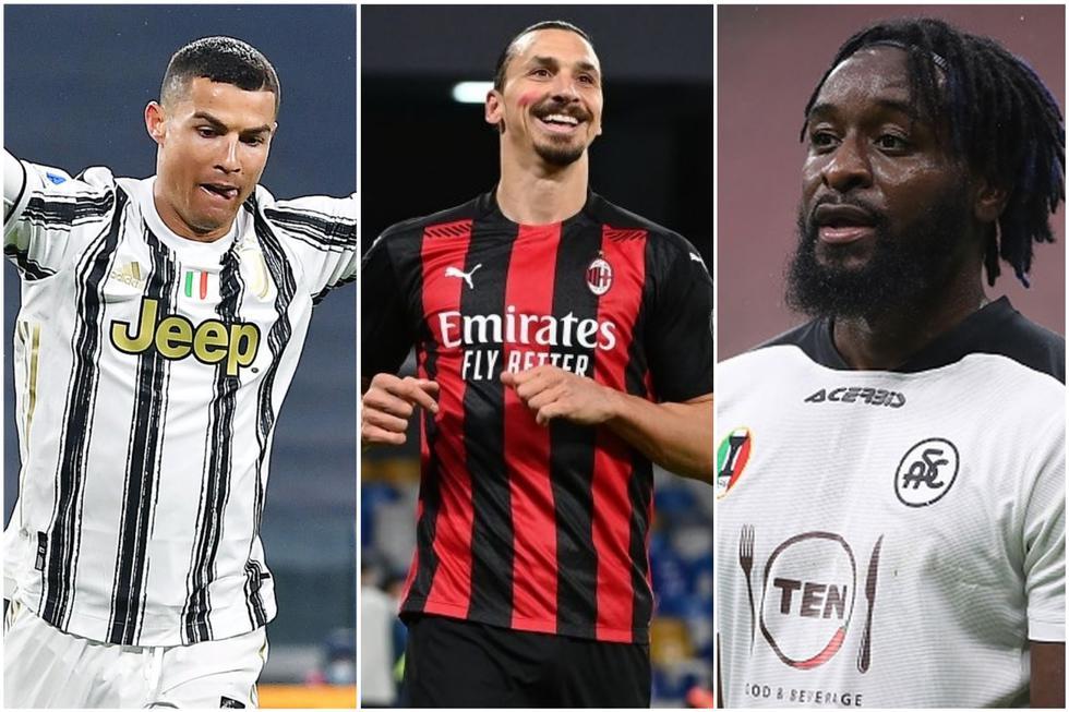Los goleadores de la Serie A de Italia.