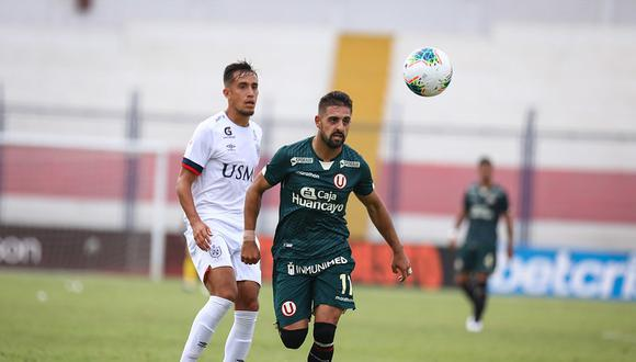 Luis Urruti registra 662 minutos con los merengues, en la Liga 1 (Foto: Universitario).