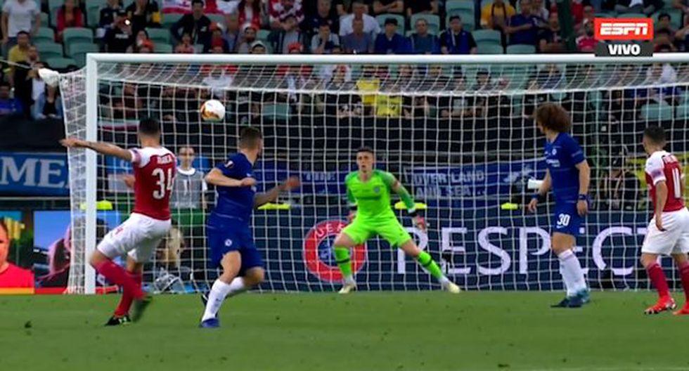 El remate de Xhaka que generó peligro en Chelsea-Arsenal. (Video: ESPN)