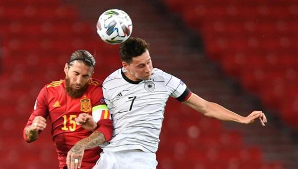 España vs. Alemania se enfrentaron por la UEFA Nations League. (Foto: EFE)