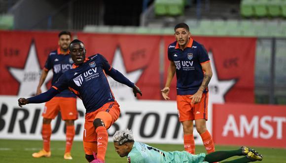 César Vallejo cayó 2-0 ante Caracas FC, por el pase a la Fase 2 de la Copa Libertadores 2021. (Foto: @Libertadores)