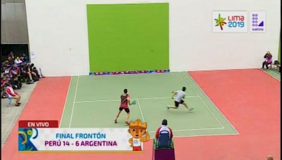 Así se llevó el primer set Kevin Martínez y va por el oro en Lima 2019. (Fuente: Latina)