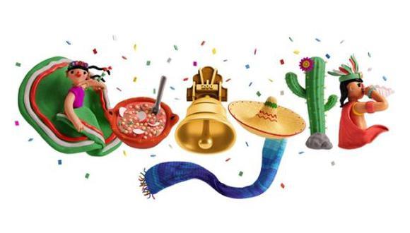 Google rindió homenaje al Día de la Independencia de México con un doodle este jueves 16 de septiembre. (Foto: Google)