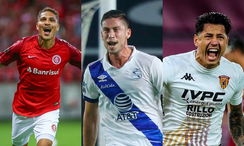 Paolo Guerrero, Santiago Ormeño y Gianlua Lapadula podrían ser tomados en cuenta en al próximo convocatoria de Ricardo Gareca. (Fotos: Agencias)
