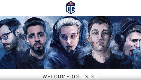 """""""CS: GO"""": OG, histórico club de Dota 2, anuncia su equipo de Counter-Strike. (Foto: OG)"""
