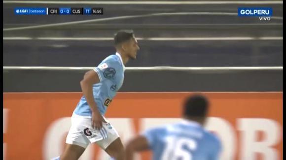 Gol de Christofer Gonzáles para el 1-0 del Sporting Cristal vs. Cusco FC por la Liga 1 (Video: GOLPERU).