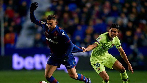 Chumi jugó en el partido de ida ante Levante por Copa del Rey. (Getty)